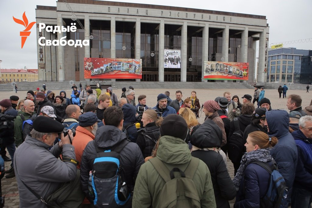 2 hundred protesters gathered in Minsk