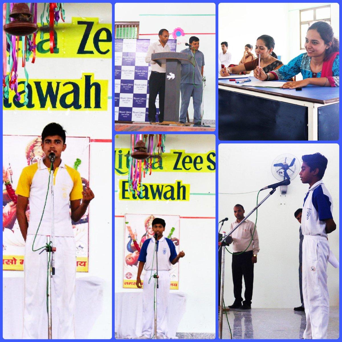Zee School Etawah On Twitter Etawahs Mount Literans Performed In