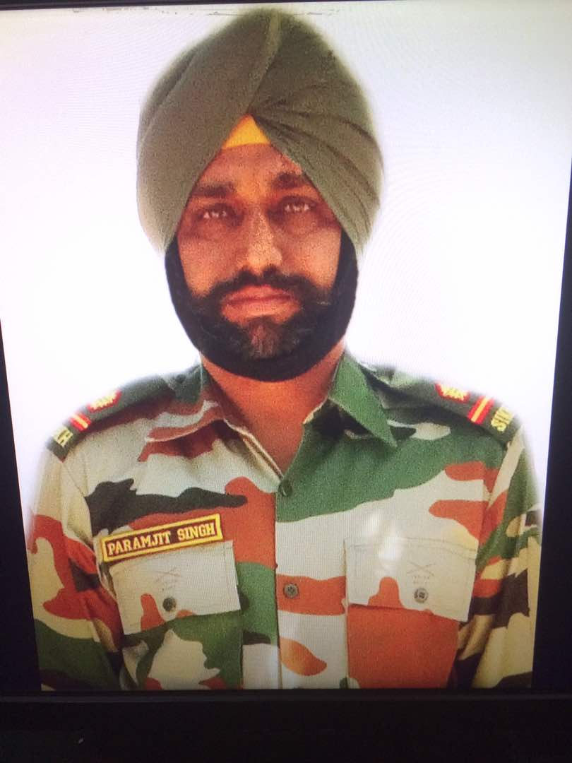 Image result for Martyr naib subedar Paramjit singh