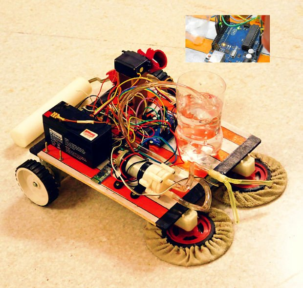 Make your own floor cleaning robot with this instructables