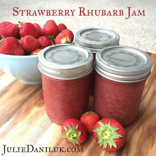 Strawberry Rhubarb Jam with Flaxseed Powder