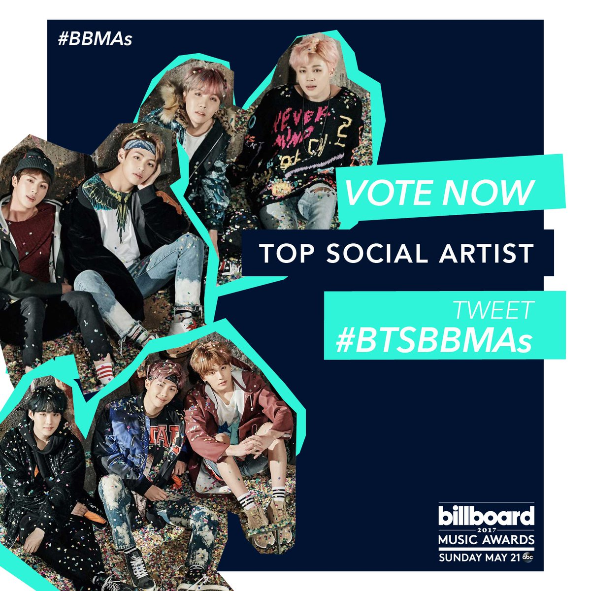 RT to vote for @BTS_twt for Top Social Artist at the #BBMAs! #BTSBBMAs https://t.co/Uo8zZOn7YB