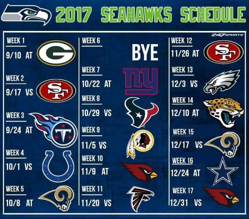 Seattle Seahawks Schedule: Carolina Sea Hawkers (@carolinahawkers)