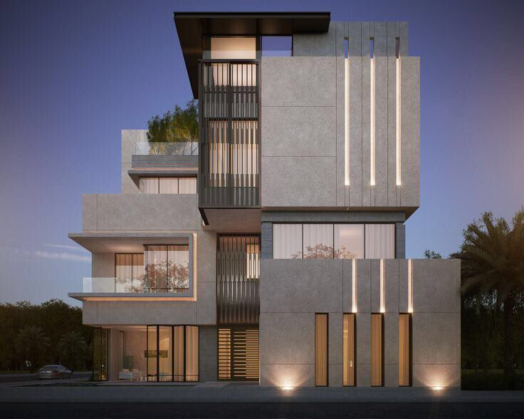 On twitter for Architecture facade villa
