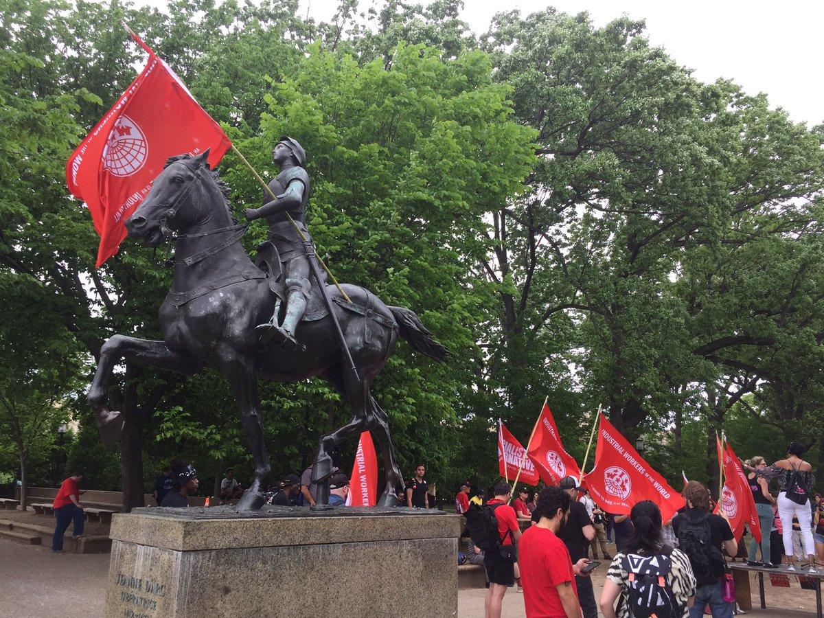 Antifa communist flag