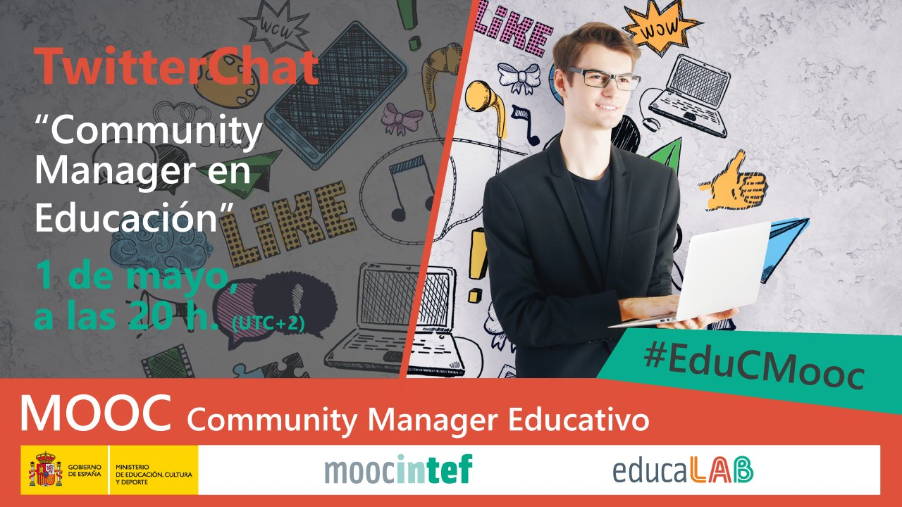 "Thumbnail for 1er Evento en Directo: Twitter Chat #EduCMooc. ""Community Manager Educativo"""