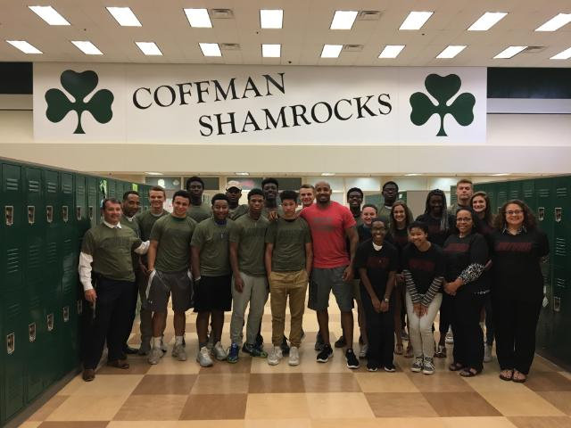 Roy Hall from the @DRIVEN_ spoke to some @DublinCoffmanHS students this afternoon. #theDublinDifference https://t.co/g2m8USitwF