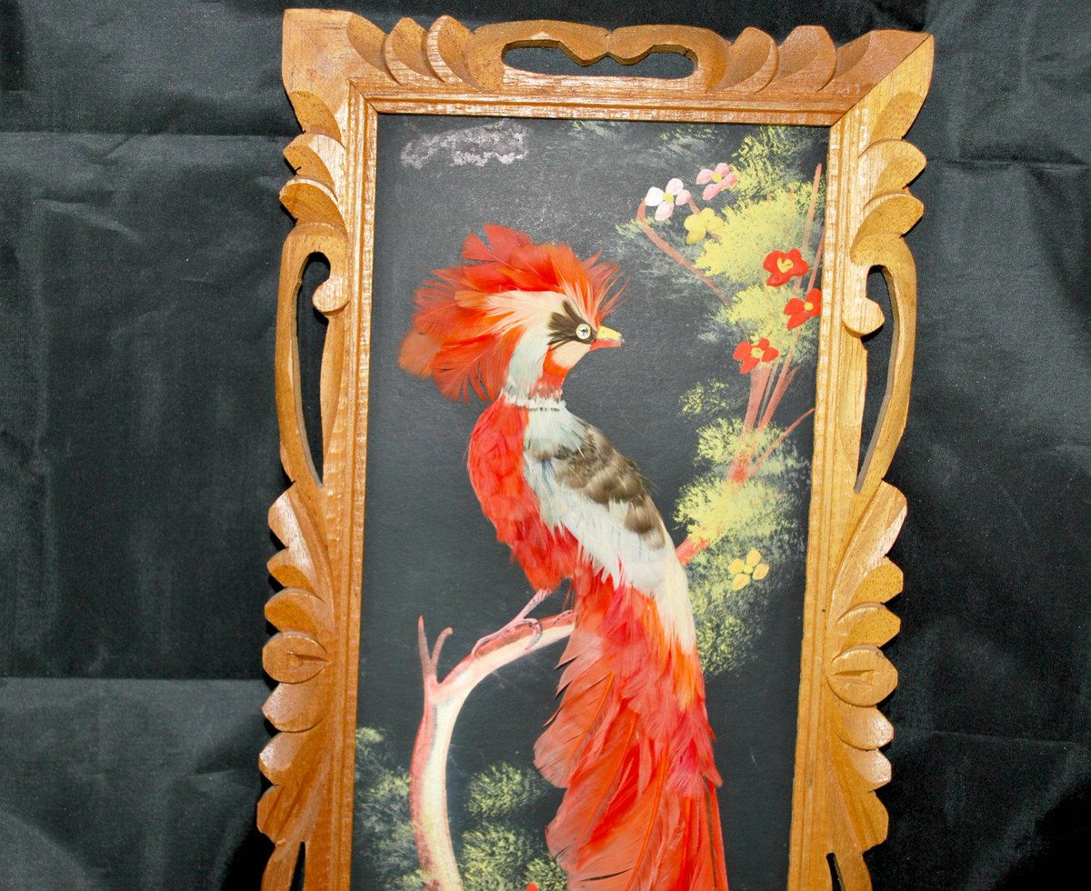 paradisebirds.net p Oil Painting , Feathercarft wood frame paradise bird , Mexican Folk A…  http:/