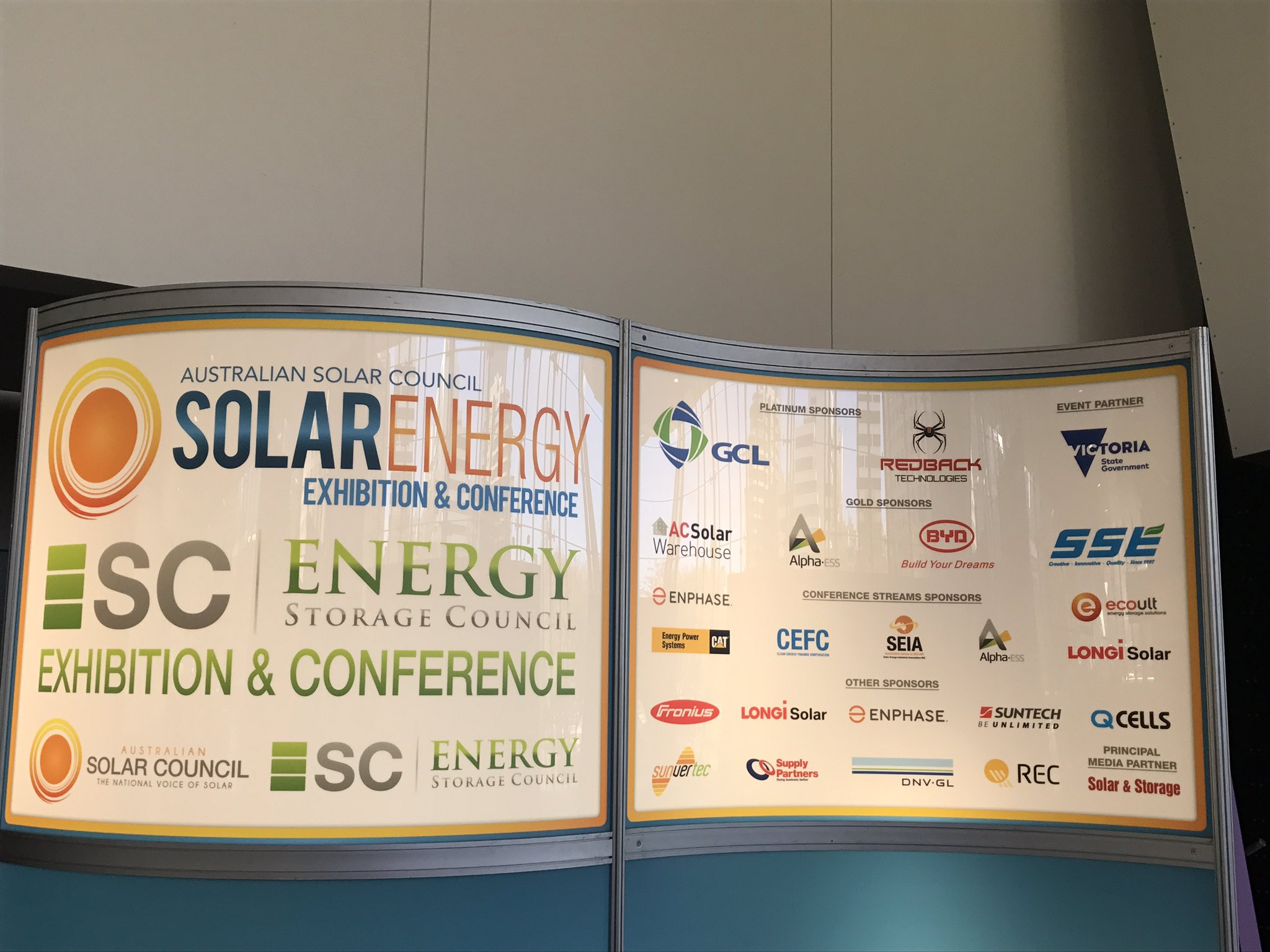 #SolarStorage2017 starts tomorrow. Great speakers, great solar & storage companies and products and free to attend. https://t.co/dXyI82ZDt1 https://t.co/DNtRRP6Kw0