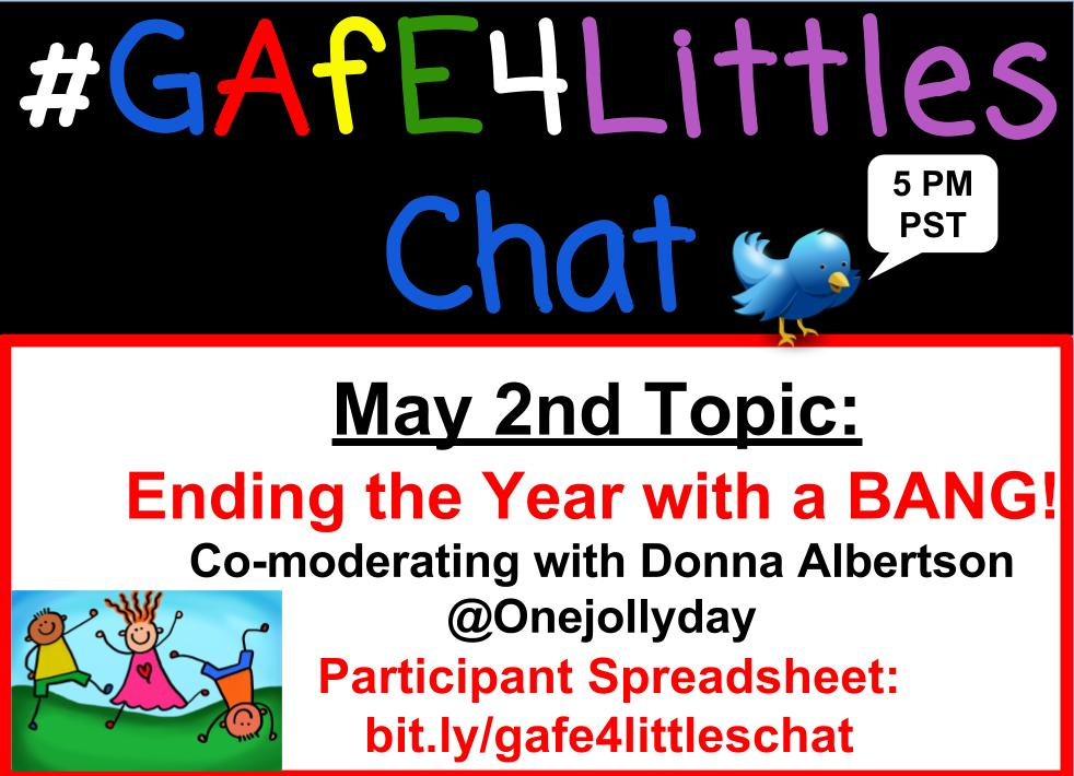 Wahoo!! It's almost time for #GAFE4littles chat! Join us in just a few minutes. Let's learn and grow together! #wyasd #ktifamily https://t.co/yoYdlUlvlI