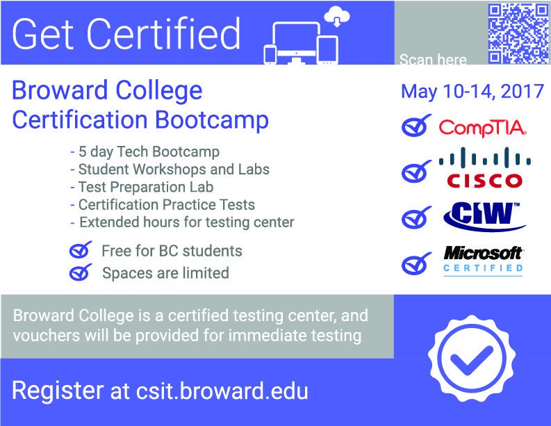Broward College On Twitter Ready To Get Tech Certified Sign Up