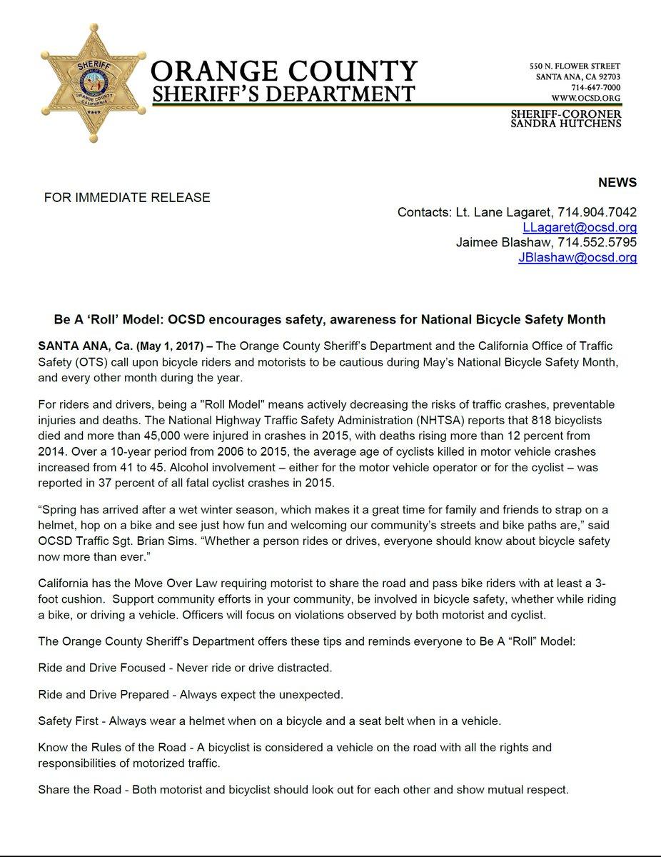 OC Sheriff, CA on Twitter: