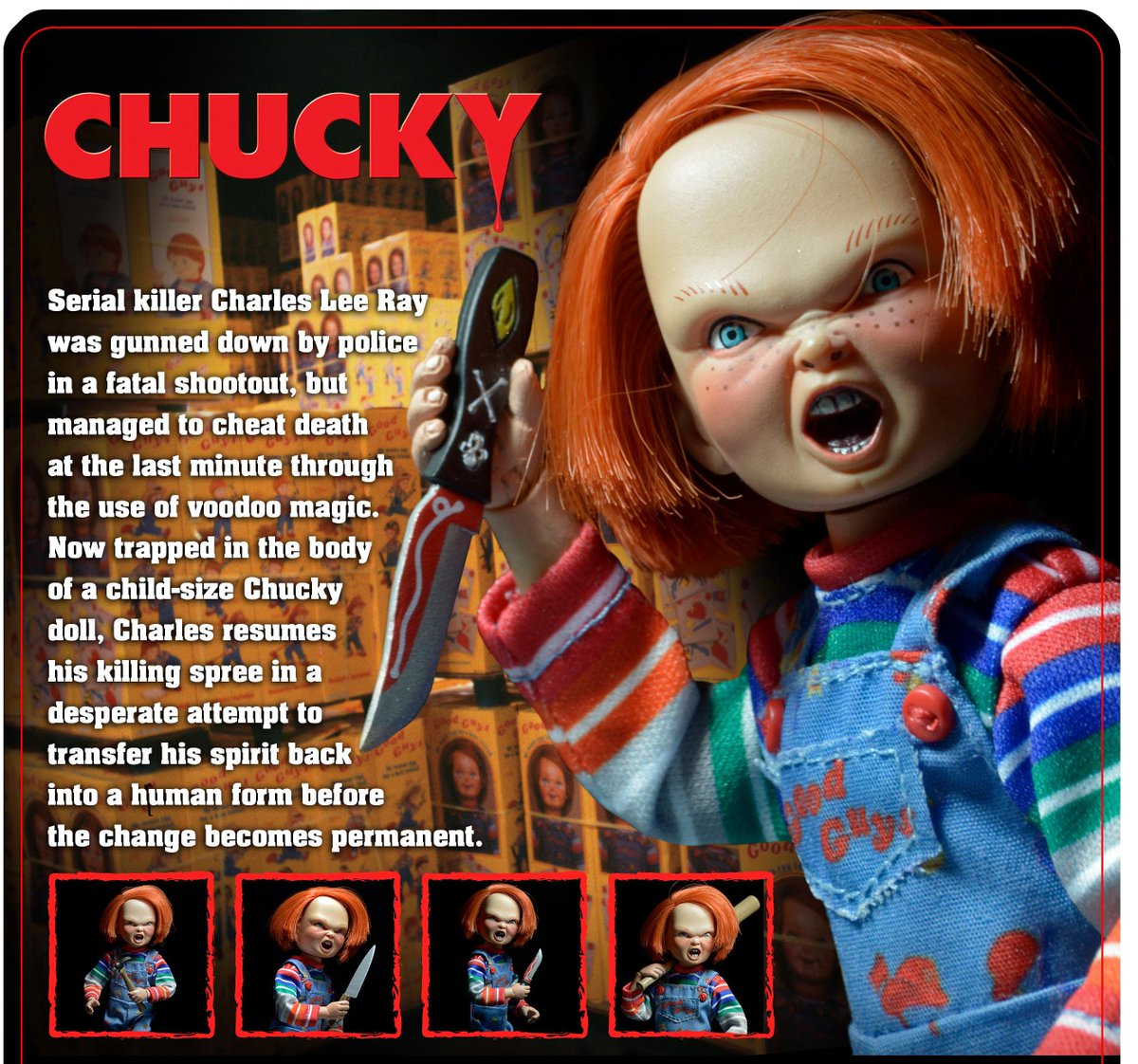 A Peek At The Packaging Back For Long Awaited Clothed CHUCKY Figure Coming Soon Monstermonday