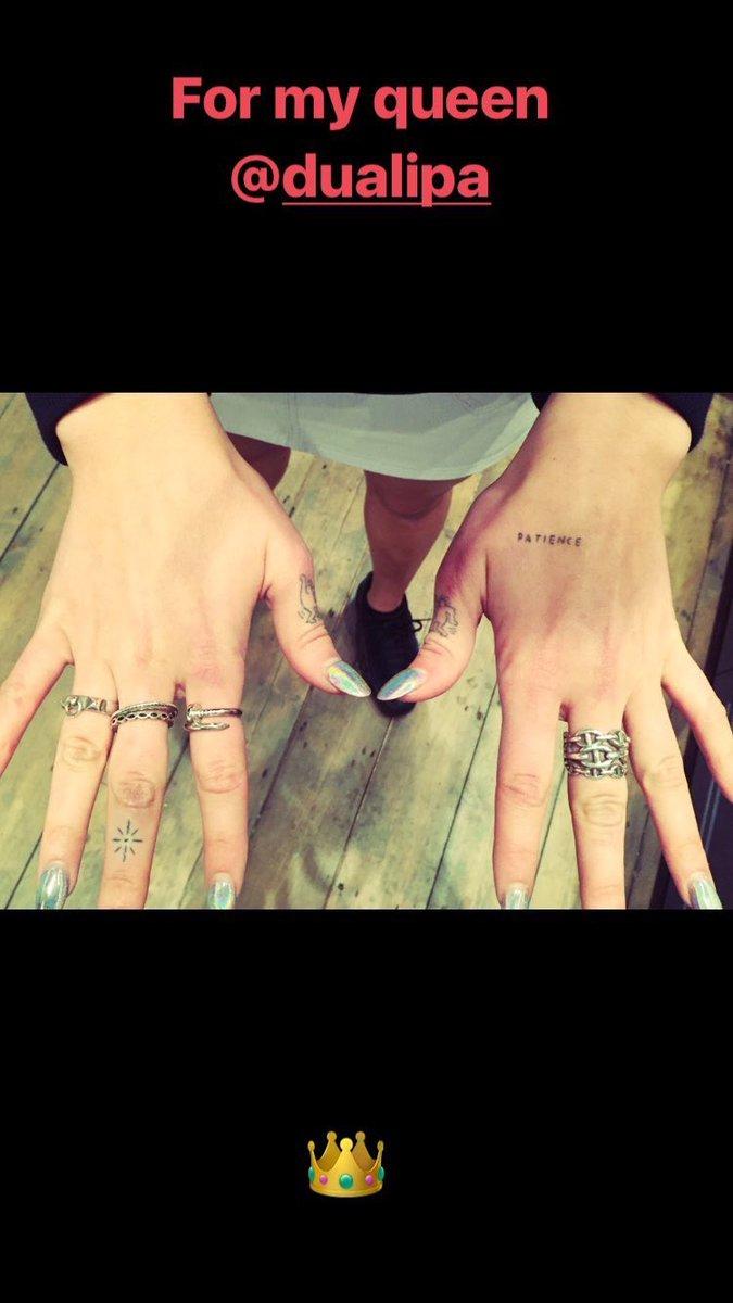 Dua Lipa News On Twitter Duas New Tattoo Via