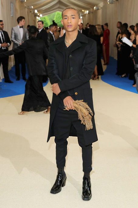 Jaden Smith brought his hair as an accessory to the #MetGala