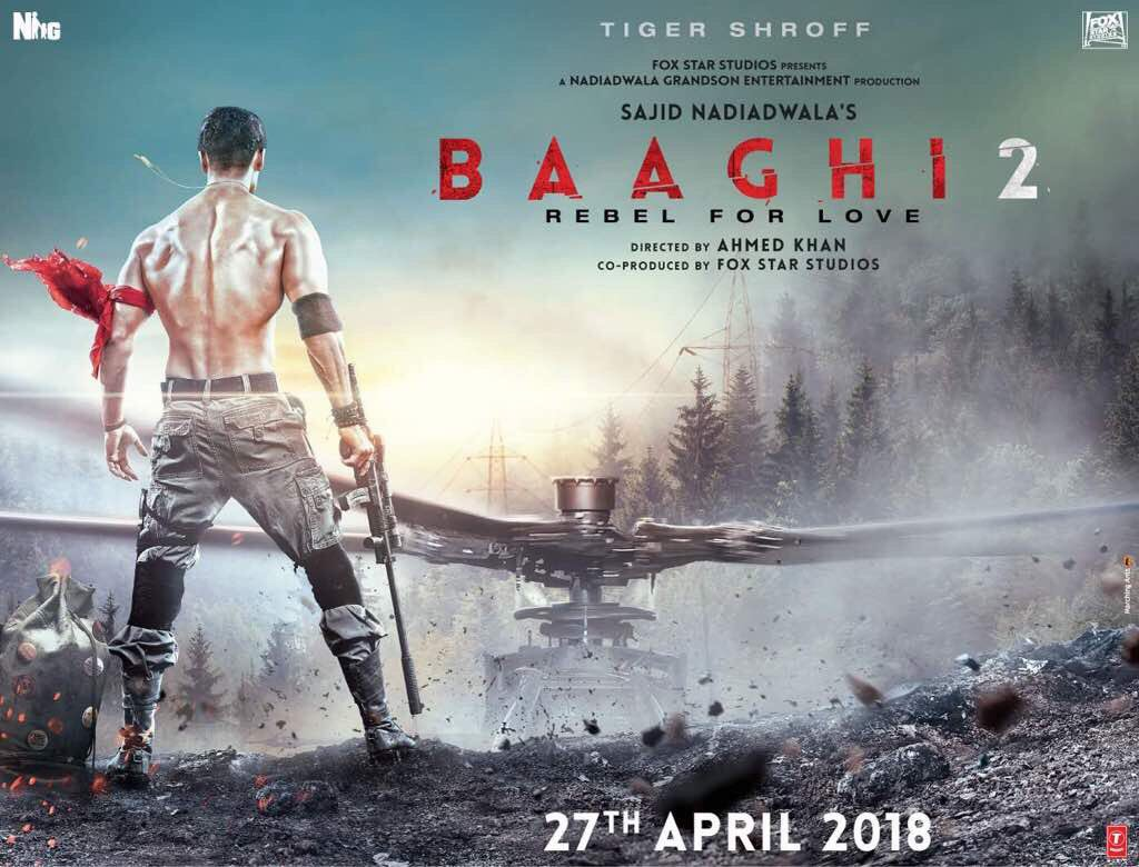First Look Poster of Baaghi 2 starring Tiger Shroff
