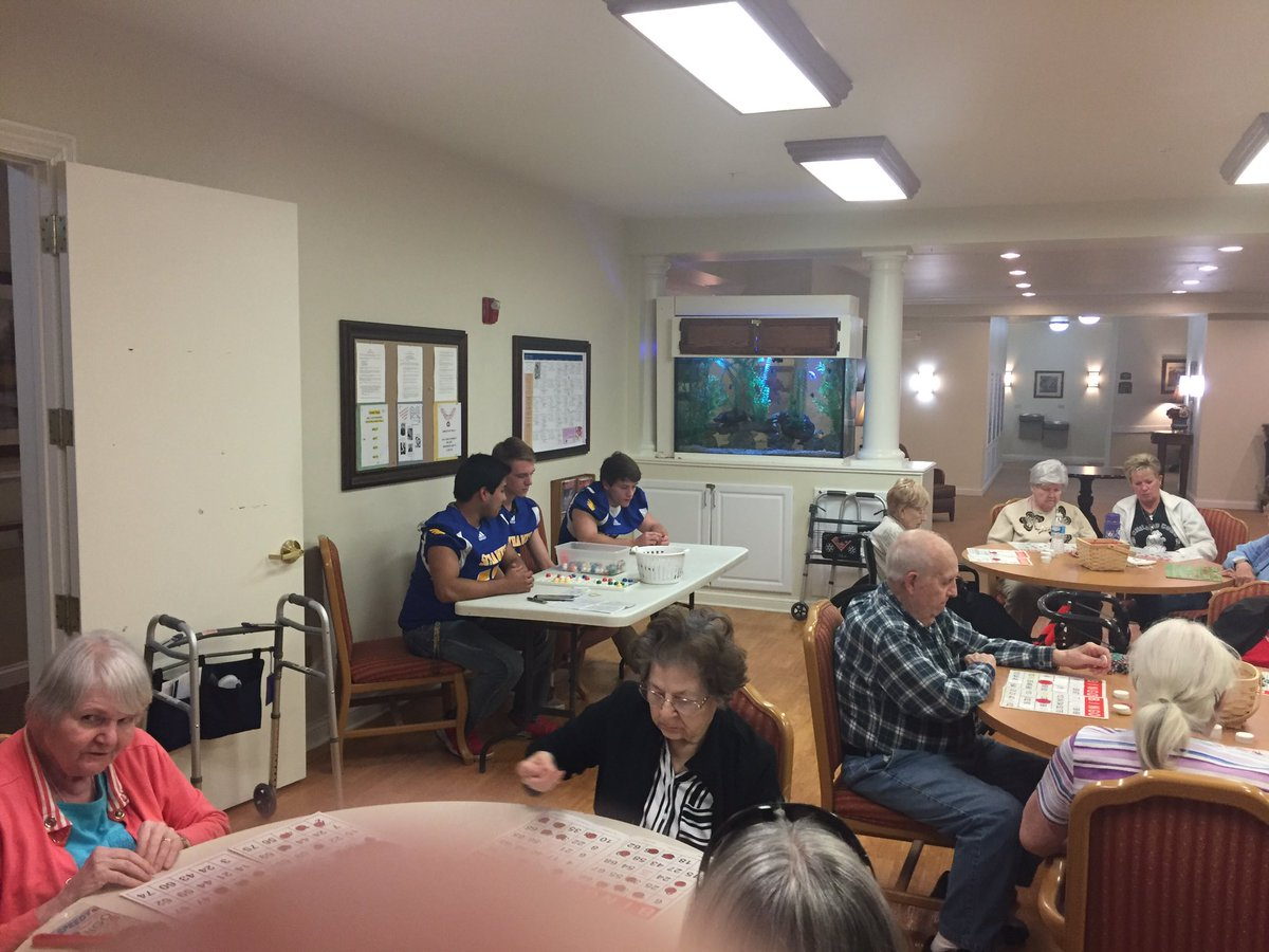 Picturesque Wagner Living Photo Of @jhsskyhawks Some Skyhawks Calling/playing Bingo At Fox