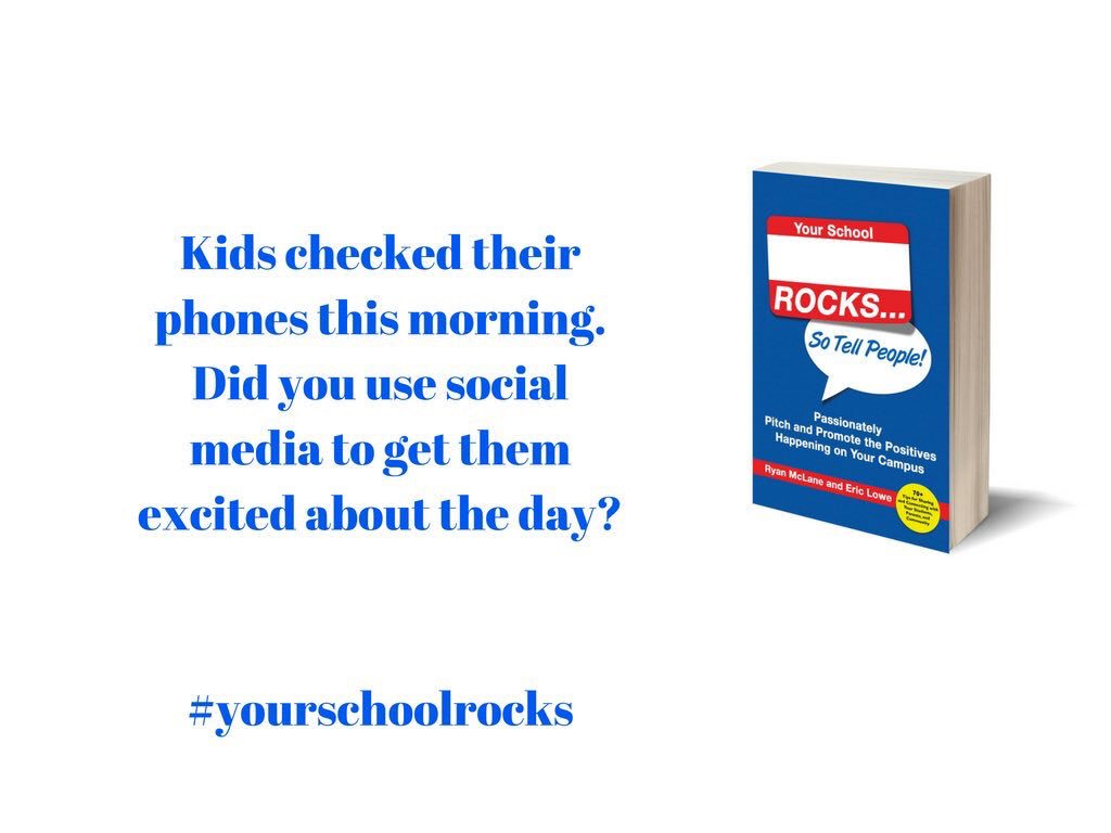#yourschoolrocks How are you using social media to get your school community excited about the great happenings? #tlap #suptchat #satchat https://t.co/MdhsMMlSGM