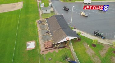 Drone Video Shows Storm Damage To Glenn High School Batting Cages