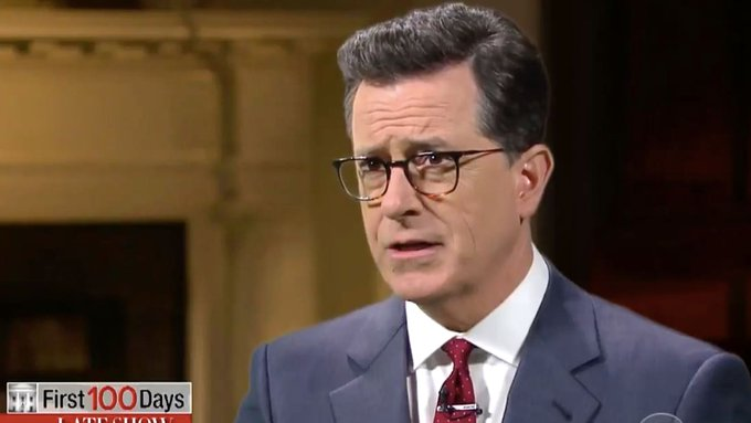 """Stephen Colbert to Trump: """"The only thing your mouth is good for is being Vladimir Putin's cock holster."""" https://t.co/d5K2k2nH4x"""