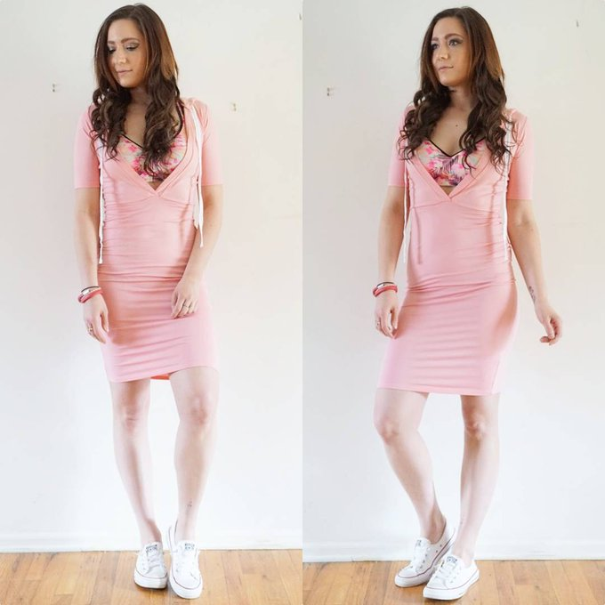Pink Bodycon Althleisure