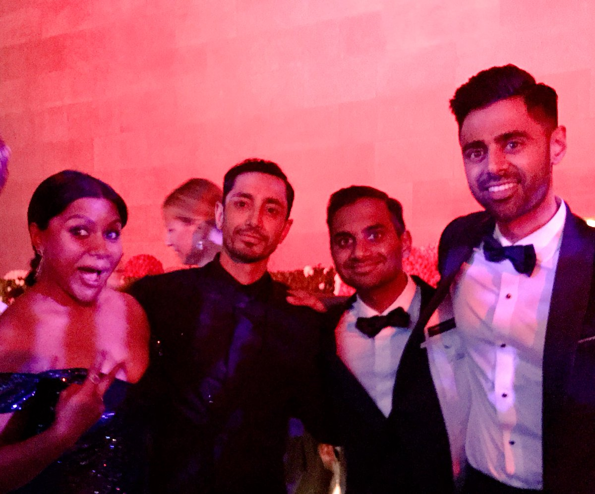 Taking over the #metgala2017 with @azizansari @mindykaling @hasanminhaj https://t.co/DIYXFBkU0l