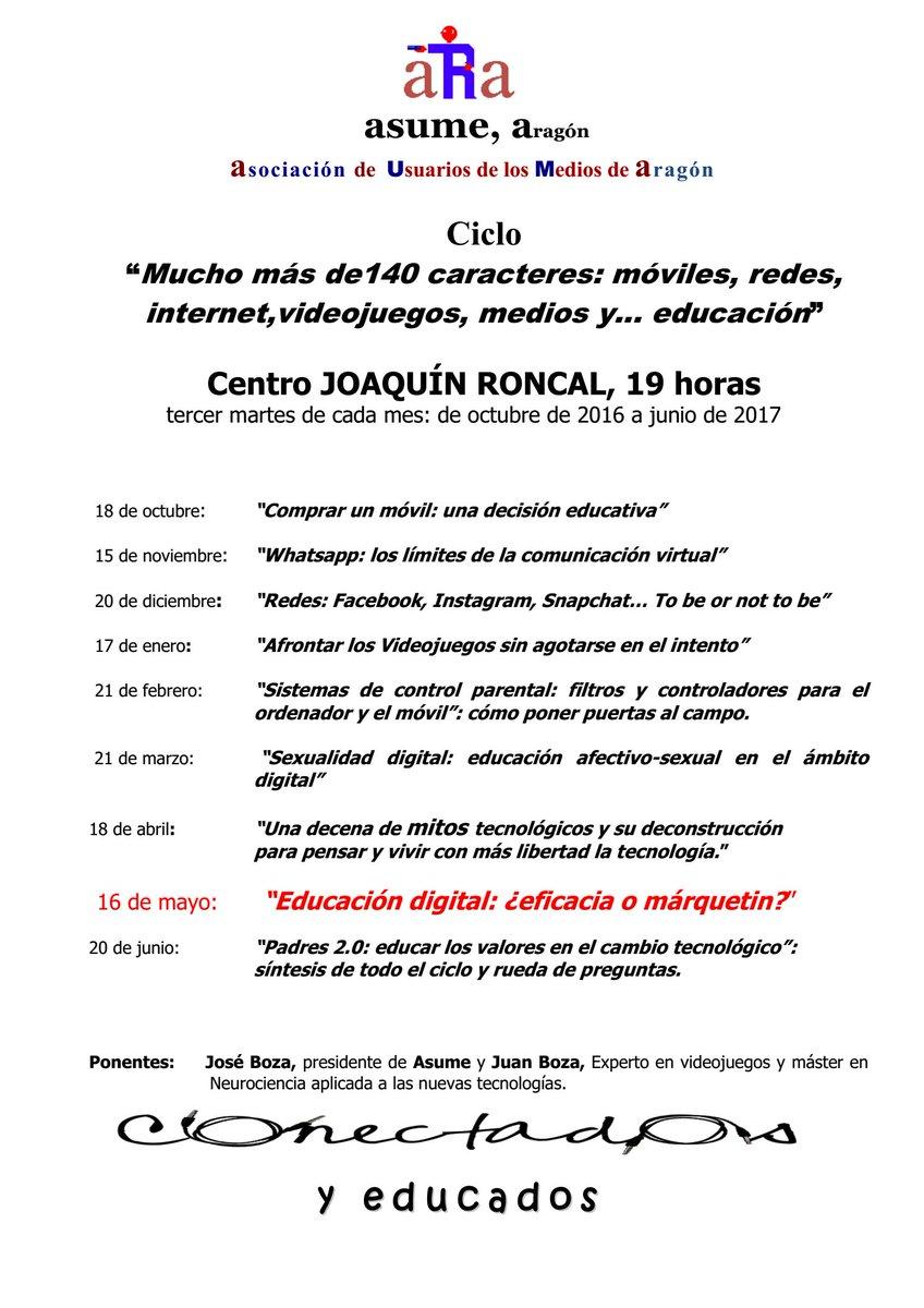 Ciclo «140 caracteres…»Educación digital: ¿eficacia o márquetin?