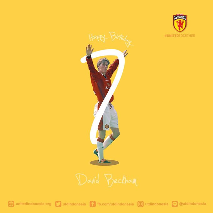 Selamat ulang tahun Happy Birthday David Beckham!
