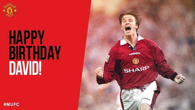 Happy Birthday to my idol and hero growing up. David Beckham