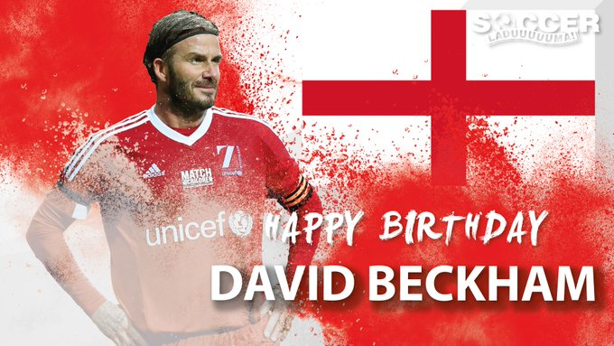 Today we celebrate a legend of the game - Happy Birthday David Beckham!