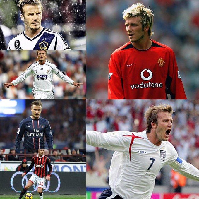 Happy Birthday David Beckham.  PL      FA Cup  Champions League La Liga MLS Cup  Ligue 1 65 fk goals