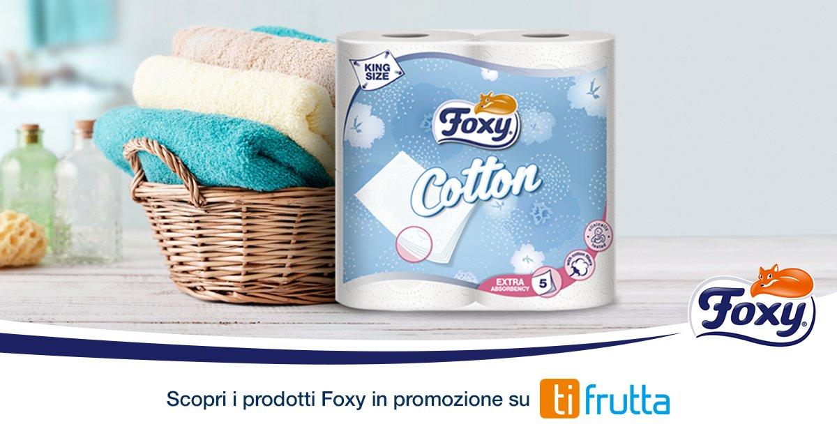 Cerchi i Foxy Cotton 4 rotoli in offerta esclusiva? Scarica l'app @ti_frutta: uno scatto allo scontrino e ricevi subito 1€ di sconto! 😉 https://t.co/3eIxAOggk9
