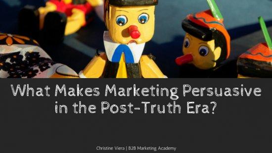 What makes B2B marketing persuasive in the post-truth era? https://t.co/mNfh5UPglH https://t.co/8BKDCHKzGE