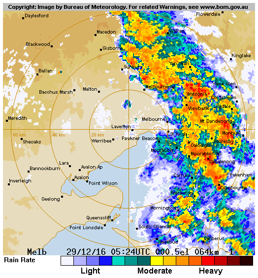 Bom melbourne radar