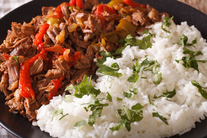 Slow Cooked Pulled Turkey & Coconut Rice