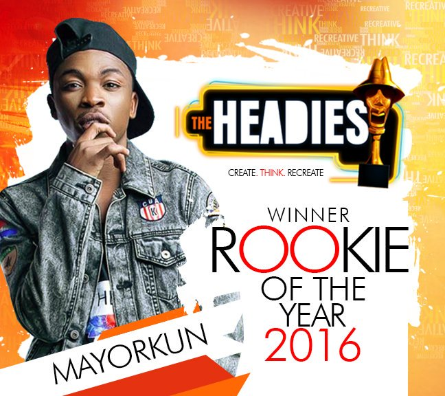 DMW act @IamMayorKun wins The Rookie of the year 2016. Read details on our Instagram page @officialhiptv https://t.co/4sy7vexnLh