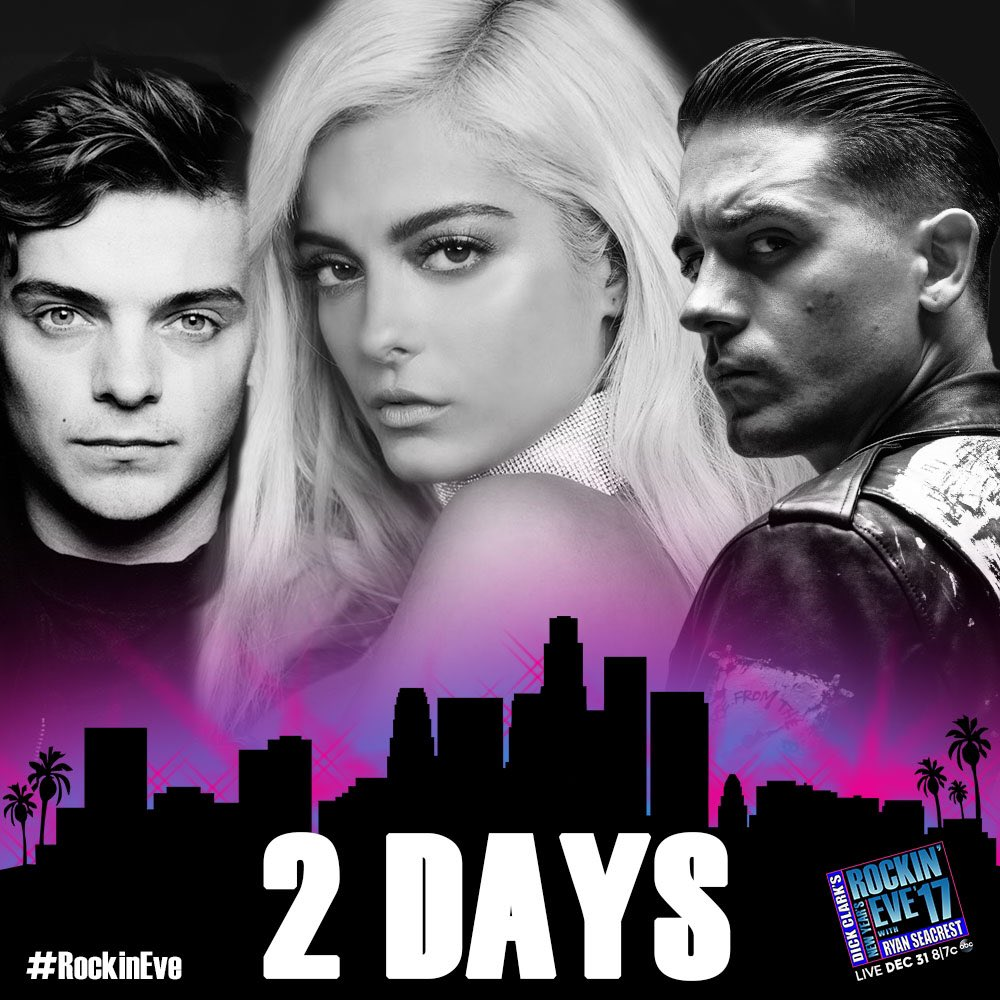 So ready for 2017. Performing at @NYRE #RockinEve with @G_Eazy & @...
