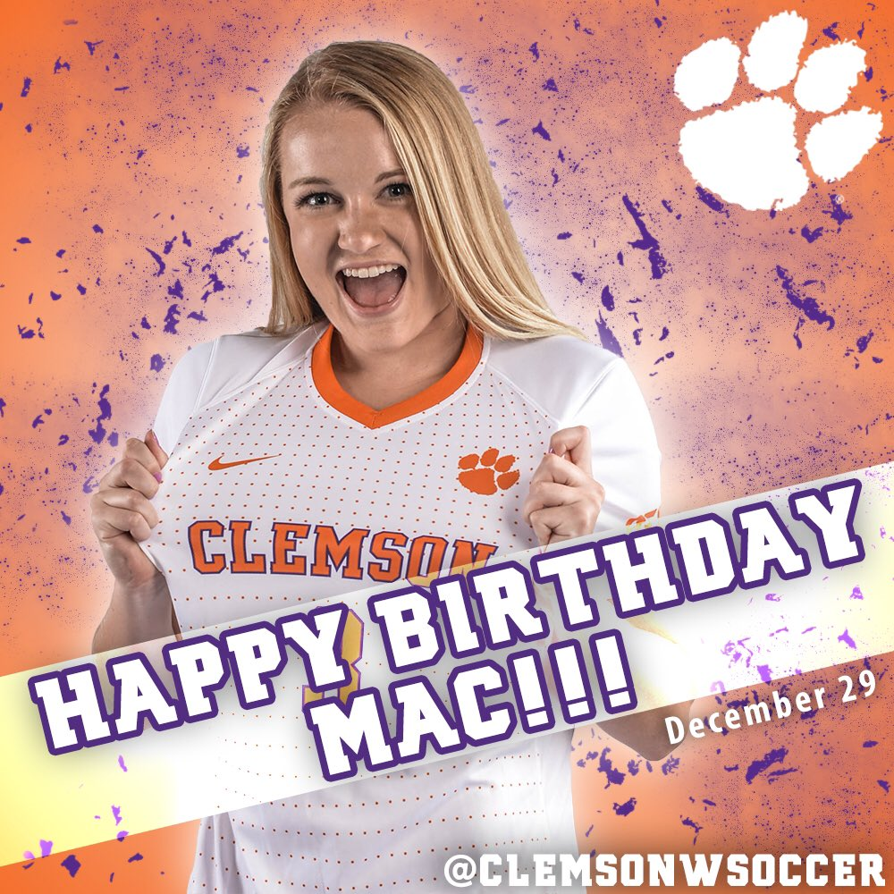 Happy Birthday to freshman defender Mac Smith! We hope you have a wonderful day, Mac! #ClemsonFamily #SolidOrange https://t.co/jsXUzAMhAj