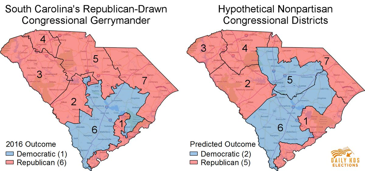 like in 2016 without congressional gerrymandering