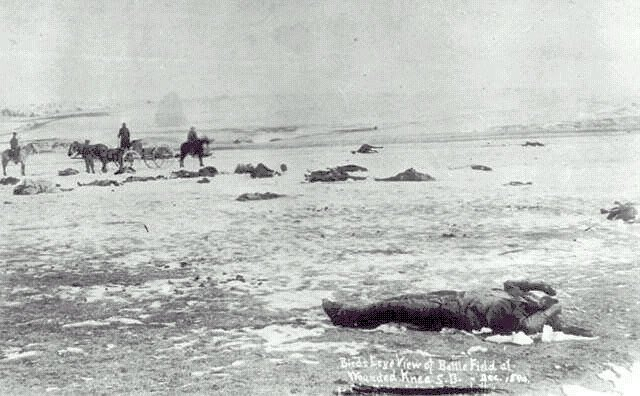 #otd in 1890, US troops killed over 400 Sioux Indians at #WoundedKnee. https://t.co/RVDAHYIAZI