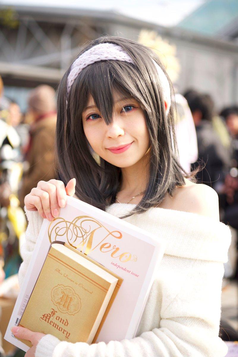 鷺沢文香:秋山依里さん(@Ellie__A) 池ハロのうまるちゃんに続き撮らせてもらいました!ありがとうございます! #C91  #C91コスプレ #cosplay https://t.co/Wt5Ic7J2uD