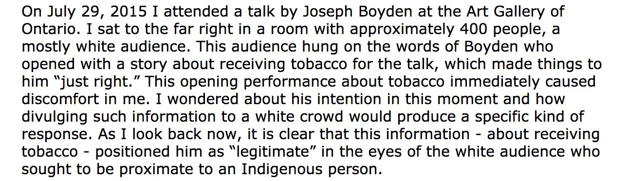 The more I items I read abt Boyden, the more I cringe. See @duane_linklater's account here: https://t.co/uhhzuT3usq This is 1st paragraph: https://t.co/HZKN8fDIcM