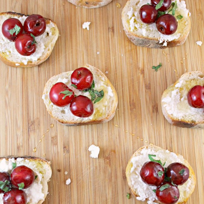 Cherry-Ricotta Bruschetta Recipe