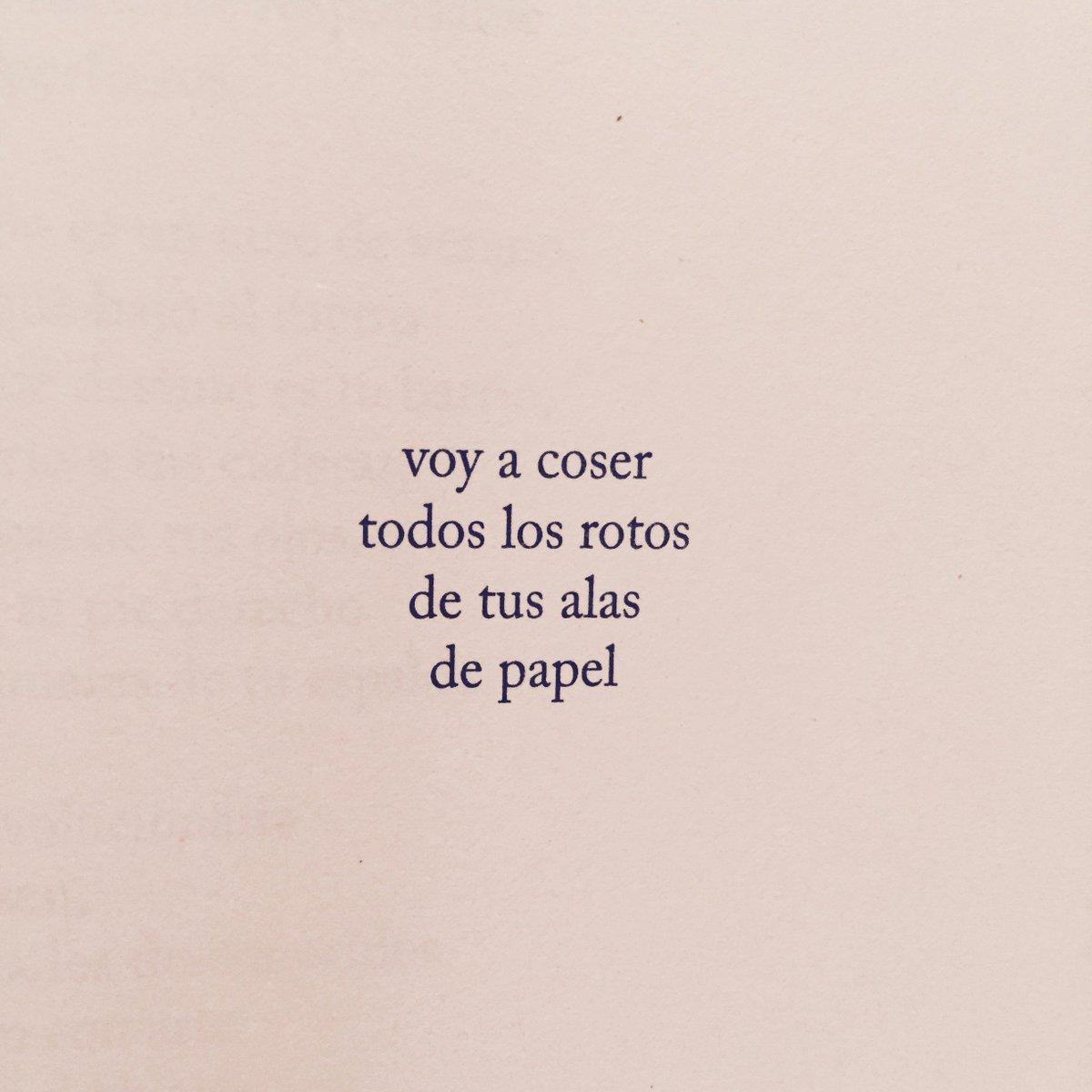 '... voy a coser todos los rotos de tus alas de papel' :)  #Poesía @diegoojeda85 https://t.co/9sCuPyetIW