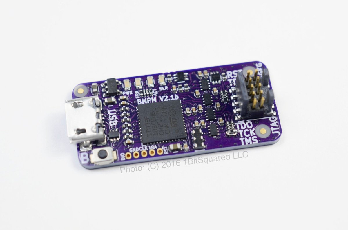 Piotr Esden Tempski On Twitter Last Chance To Back 1bitsy Black Circuit Boards Like Magic Appears Probe Arm Dev Board With Plug Play Gdb Server Enabled Jtag Debugger
