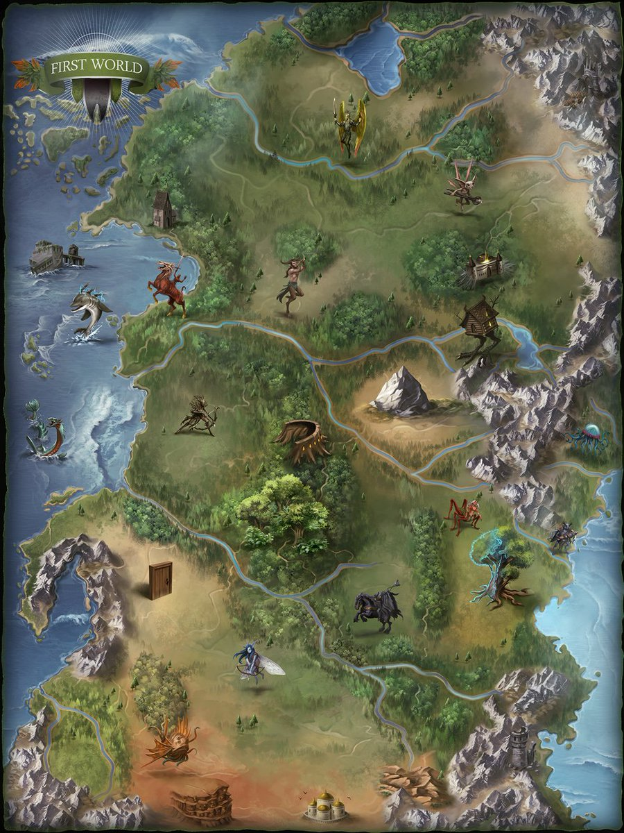 Damien Mammoliti On Twitter Map Of The First World Done For Paizo
