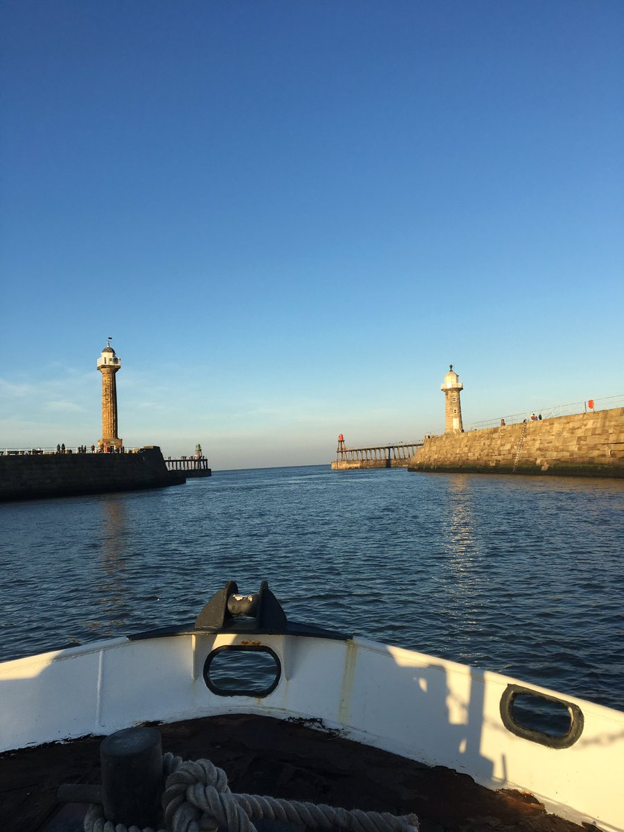 Glorious day for a boat trip out of Whitby today #wonderfulwhitby #whitby https://t.co/RWQDHJ5Gvs