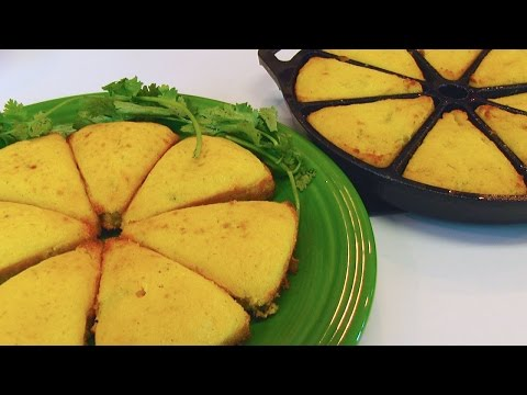 Betty's Green Chile & Onion Cornbread Wedges #LoveBetty #Food #Recipes
