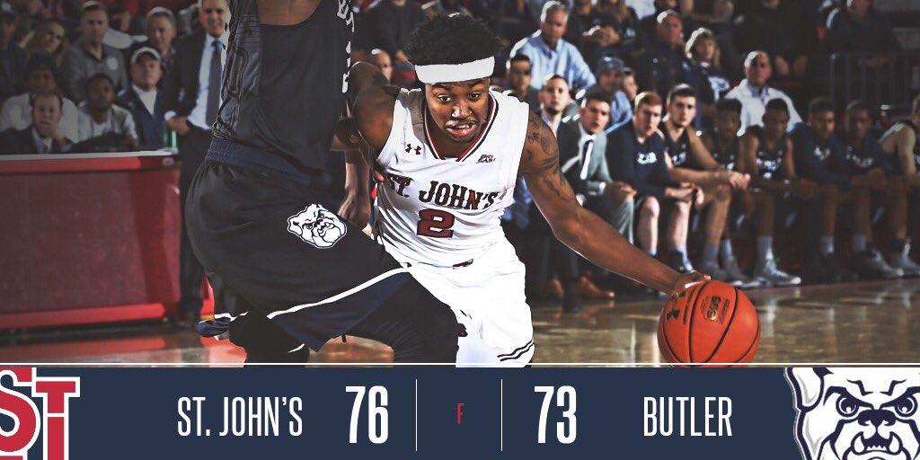 #SJUBB prevails over No. 13 Butler! https://t.co/xHT3Z8iB9d