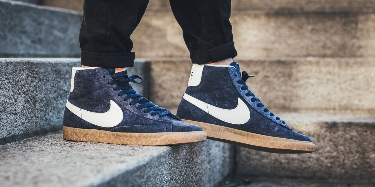 new style 3ad6c 81a41 nike blazer mid suede vintage blue